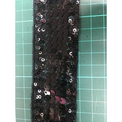 factory price wholesale hot sale multicolour sequin tape embroidery sequin lace trim