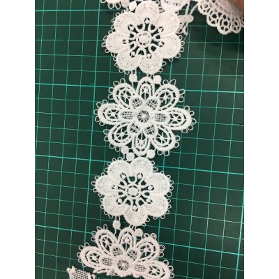2019 new fashion flower design lace,high quality chemical lace for decoration