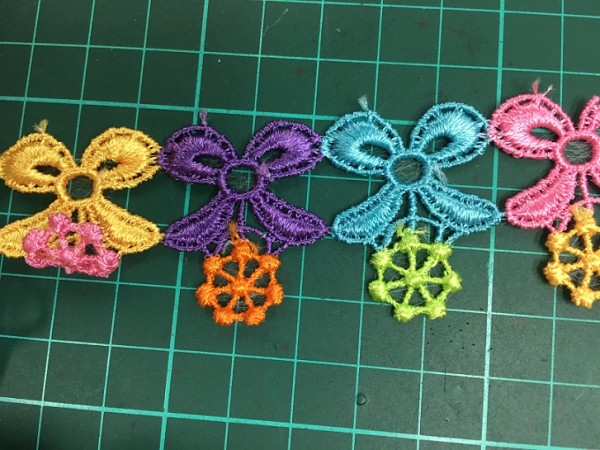 2019 new fashion colorful flower design lace,high quality chemical lace for decoration