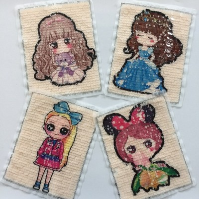 wholesale new design popular girl sequin patch