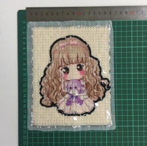 wholesale new design popular girl sequin patch