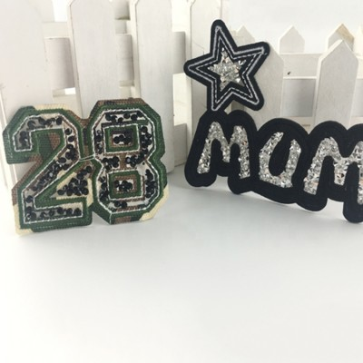 Iron On Embroidery Badges Patch Rhinestone Patches For Clothing