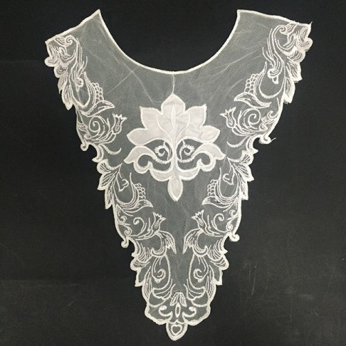 2019 new design elegant flower embroidery lace collar