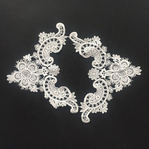 Milk Silk Mesh Flower Embroidered Lace Neck Collar For Clothes