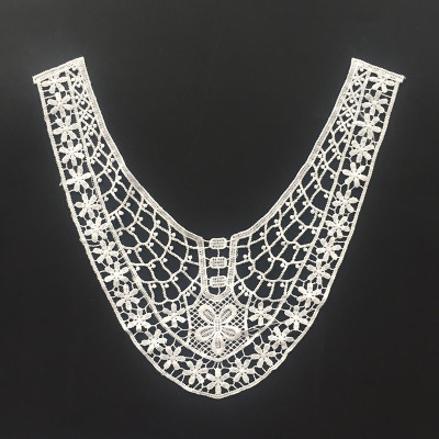 Milk Silk Collar Applique Embroidery Neck Lace Designs