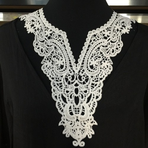 wholesale high quality crochet white embroidery neck lace collar laces applique