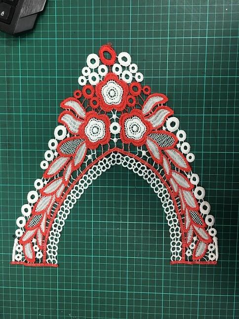Durable Ladies Blouse Collar Design Neck Lace Trim Embroidery