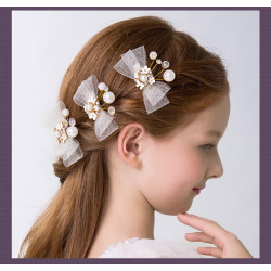 Flower Girls Crystal Hairpin Girls Headpiece