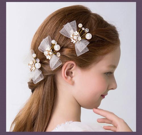 Flower Girls Crystal Hairpin Girls Headpiece
