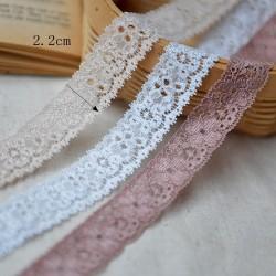 2019 wholesale Spandex / Nylon/cotton Material lace trim elastic stretch lace