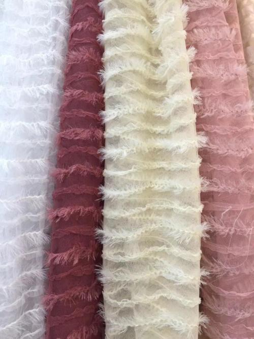 2020 new design lace embroidery mesh fabric