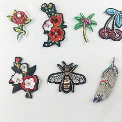 Sew On Sequin Patch Beaded Rhinestone Patches For Clothing