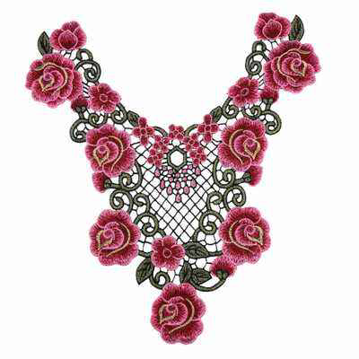 Sew On Flower Embroidery Lace Fabric 3d Neck Collar Lace