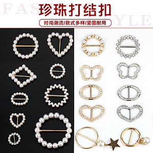 Shoes Half Rhinestone Pearl Plastic Rivet Jeans Buttons And Rivets For Handbags