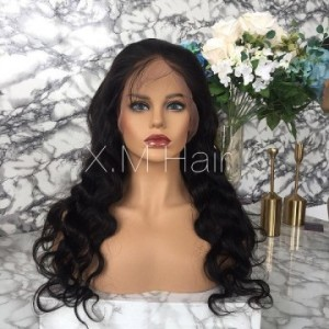 Black Color Lace Human Hair Wig NO.2