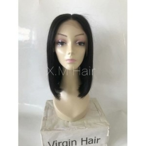 Black Color Lace Human Hair Wig NO.4