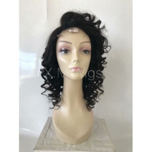 Black Color Lace Human Hair Wig NO.6