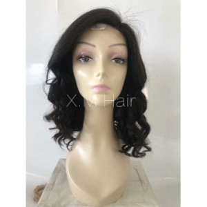 Black Color Lace Human Hair Wig NO.8