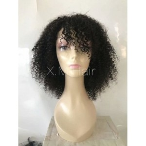 Black Color Lace Human Hair Wig NO.9