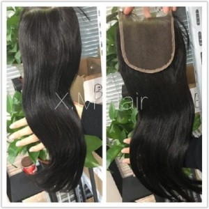 Straight Lace Closure One Bundle Deal