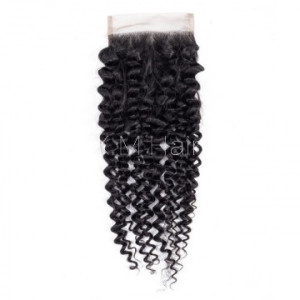 Kinky Curly Lace Closure One Bundle Deal