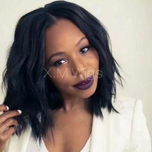 Black Color lace front Human Hair Wig NO.10