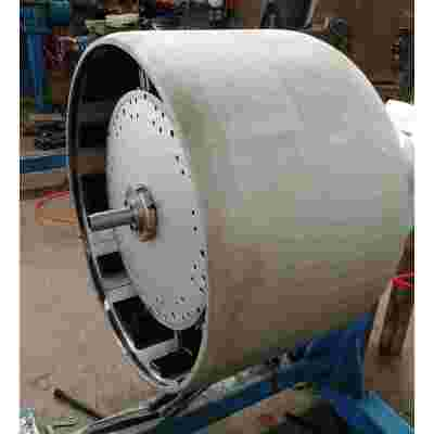 Huge tyre building drum for TBM