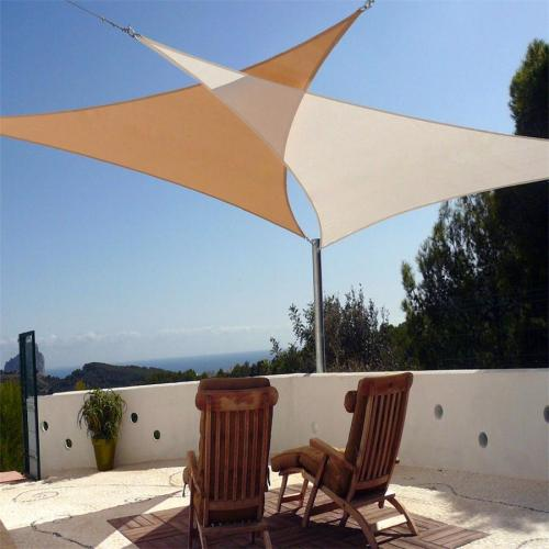 Easy-to-Hang Triangle Sun Shade Sail for Backyard Patio Cover and Awning