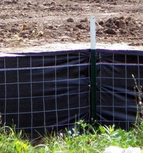 Wire Backed Silt Fence