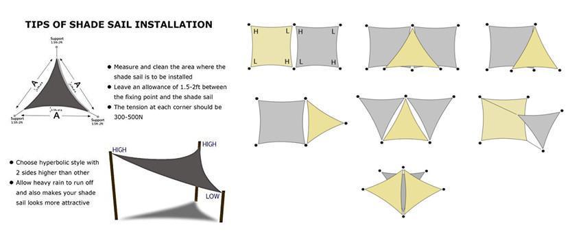 Sun shade sail installation