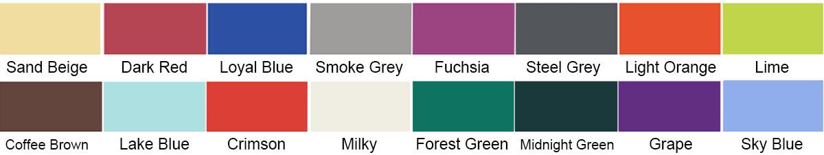 16 colors of Sun shade sail
