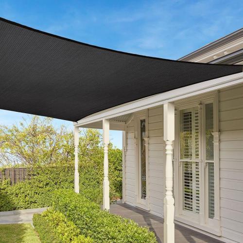 Easy-to-Hang Rectangle Sun Shade Sail with UV for Outdoor Garden Backyard