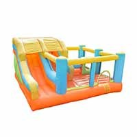 New High Quality CustomLogo Nylon Fire Truck Bouncy Castle Wholesale from China