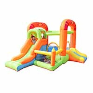 Hot Popular Top Quality Custom Nylon Frabric Inflatable Bouncer with Slide Manufacturer China