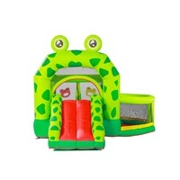 New Arrival Cheap Price Customized PVC Inflatable Green Frog Slide Manufacturer from China