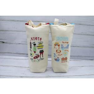 通勤通学用保冷保温可愛い刺繍保冷ボトルケース