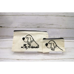 モコル刺繍 可愛い 旅行出張用小物や下着入れポーチ