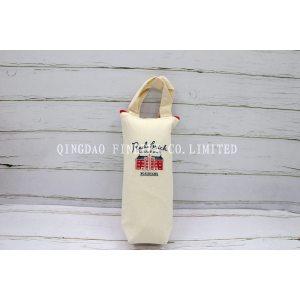 赤レンガ刺繍 通勤通学用保冷保温可愛い刺繍保冷ボトルケース