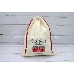 赤レンガ刺繍 可愛い 旅行出張用小物や下着入れラウンド巾着