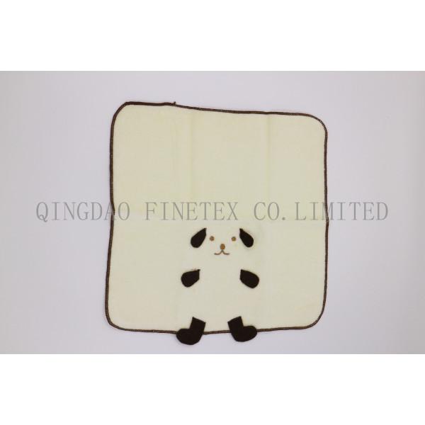 シャーリング 刺繍ハンカチタオル 犬