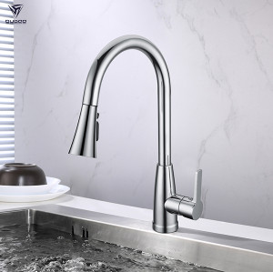 Single handle hot and cold water kitchen sink mixer faucet