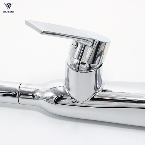 OUBAO Modern Lead-Free Single Handle High-Arc Kitchen Sink Faucet With Pull Down Kitchen Faucet