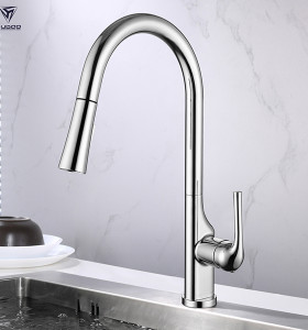 Chrome Pull Down Kitchen Sink Faucet for Kaiping Faucet Supplier