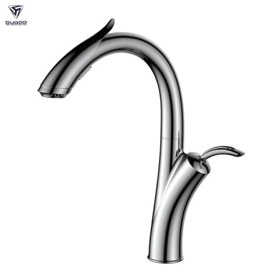 OUBAO Innovative design Modern pull down kitchen faucet with 3 way spray head