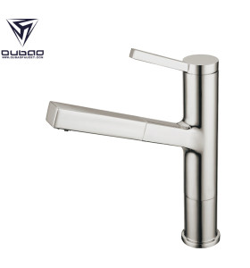 OUBAO Best Brushed Nickel Pull Out Kitchen Mixer Tap