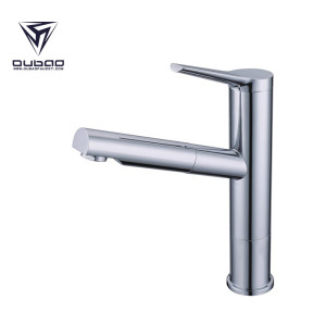 OUBAO Single Lever Hole New Kitchen Faucet Tap With Sprayer