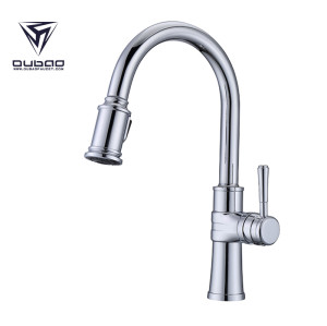 Kitchen Faucet Taps Chrome Pull Out Wall Mount Sink Fauct