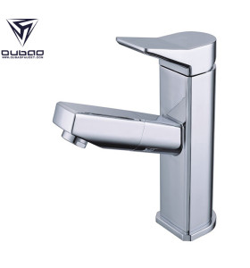 OUBAO Home Depot Chrome Vessel One Hole Sink Faucet