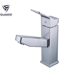 Chrome Polished Pull Out Laundray Bathroom Faucets