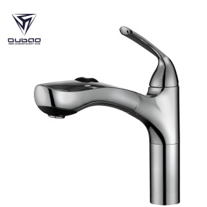 OUBAO Kitchenaid Hot Cold Water Sink Mixer Taps in Brushed Nickel